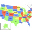 Colored USA Map — Stock Photo #1768715