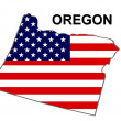 USState Map Oregon — Stockfoto #1768722