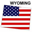 Stock Photo: USState Map Wyoming
