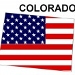 USA State Map Colorado — Stock Photo