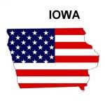 USA State Map Iowa — Stock Photo #1768757