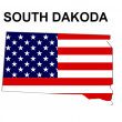USA State Map South Dakota — Stock Photo