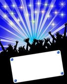 Party invitation placard — Stock Photo