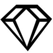Illustration of a diamond — 图库照片