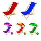 Strandstoelen — Stockfoto