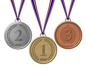 Set of Winners Medals bronze silver gold — Stock Photo