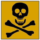 Skull and Bones Poison sign — Stock Photo