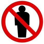 Prohibition sign Man — Stock Photo