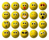 Set of Web smileys — Stockfoto