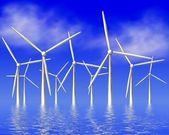 Wind wheel brings energy — Stock Photo