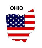 USA State Map Ohio — Stock Photo