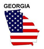 USA State Map Georgia — Stockfoto