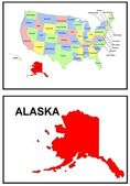 USA State Map Alaska — Stock Photo