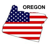 USA State Map Oregon — Stock Photo