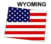 USA State Map Wyoming — Stock Photo