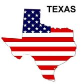 USA State Map Texas — 图库照片