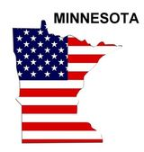 USA State Map Minnesota — Stock Photo