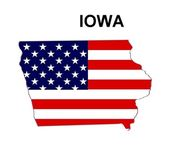 USA State Map Iowa — 图库照片