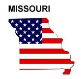USA State Map Missouri — Stock Photo