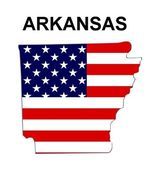 USA State Map Arkansas — Stock Photo