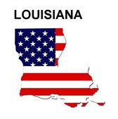 USA State Map Louisiana — Stock Photo
