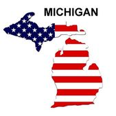 USA State Map Michigan — Stock Photo