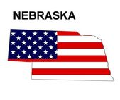 USA State Map Nebraska — Stock Photo