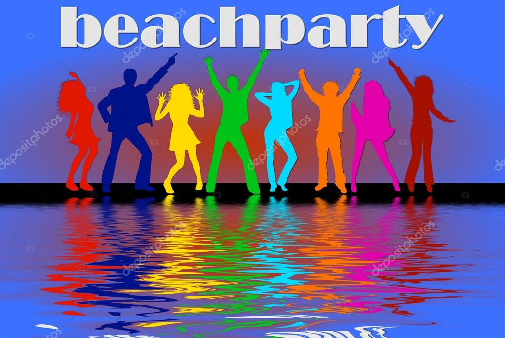 Beach party background — Stock Photo #1763530