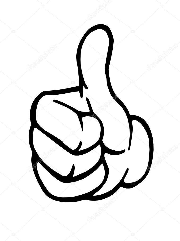 Как нарисовать палец вверх