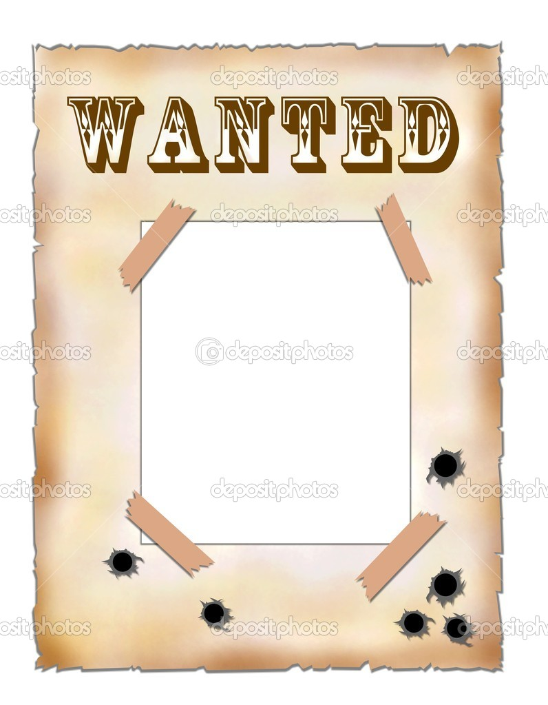wanted template free .