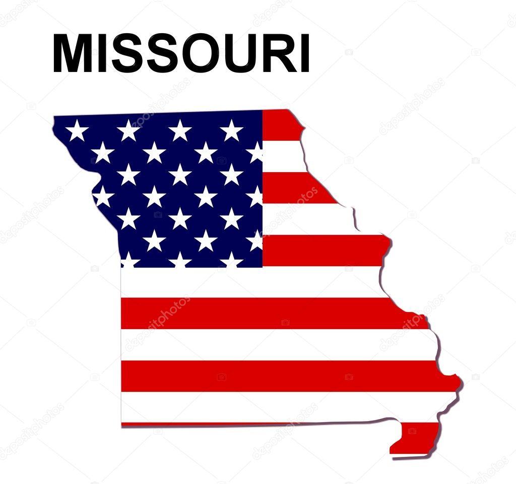 USA State Map Missouri  Stock Photo  Pdesign - United states map of missouri