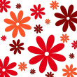 Flower background red white — Stockfoto