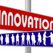 Business Motivation Sign Innovation — Zdjęcie stockowe #1777894