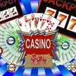Background with casino symbols — Stock Photo #1778747