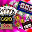 Background with casino symbols — Stock Photo #1778829