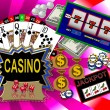 Background with casino symbols — Stockfoto #1778829