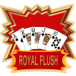 Royal Flush Logo red — Stock Photo #1778862