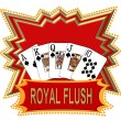 Royal Flush Logo red - Stock Photo