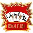 Royal Flush Logo red — Stock Photo