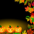 Halloween Frame with pumpkins — Stock Photo