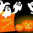 Happy Halloween Ghost — Stock Photo
