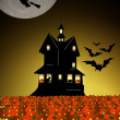 Stock Photo: Scary Halloween House Background