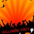Halloween Party Placard — Foto de Stock