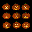 Halloween Pumpkins on black background — Stock Photo #1779312