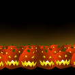 Halloween pumpkins background — Stock Photo