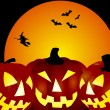 Halloween pumpkins background — Stock Photo #1779336
