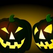 Halloween pumpkins background — Stock Photo #1779367