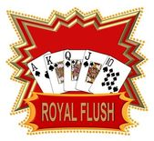 Royal Flush Logo red — Stock Photo