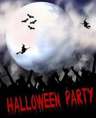 Halloween Party Placard — 图库照片