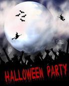 Halloween Party Placard — Stock Photo